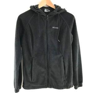 Columbia Black Full Zip Fleece Hoodie Jacket